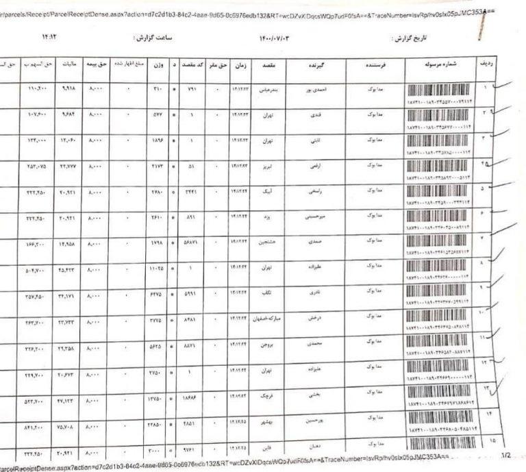 ارسال های مدابوک 3 مهر 1400