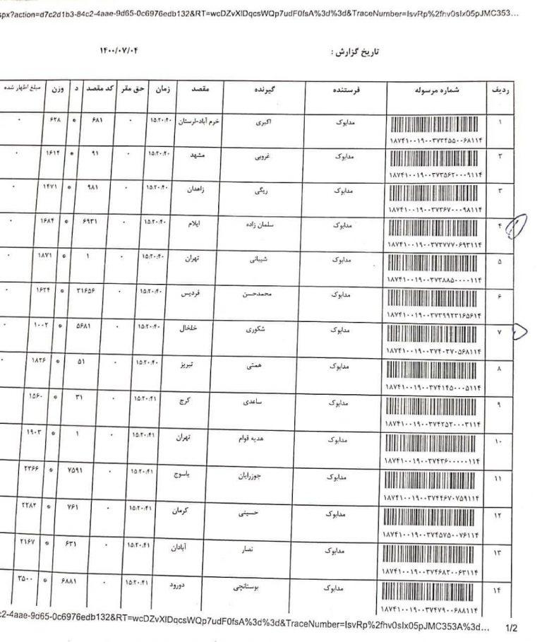 ارسال های مدابوک 4 مهر 1400 3